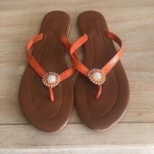Skemo Sandal beautiful coral/rhinestone!